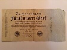 German Banknote. 500 Mark. 1922