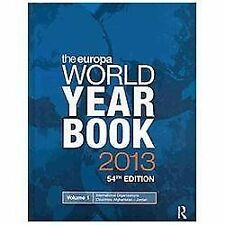 The Europa World Year Book 2013, , Good Condition, Book