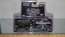 1/64 GREENLIGHT 68SHELBY GT500KR,FORD F-150 & HAULER GREEN CHASE CAR GAS MONKEY