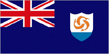 Anguilla house flag 5 x 3 British Overseas Territory Eastern Caribbean