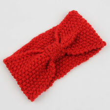 Winter Women Ear Warmer Headwrap Crochet Headband Knit Flower Hairband Beanie