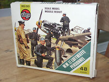 Vintage Airfix HO/OO Figures WWII German Luftwaffe Personnel Complete 48 Pieces