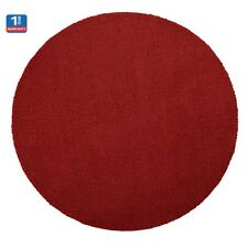FF SPOT RUG Round Fun Funky Warm Spring Feel Any Room WOOL, 70cm - RED
