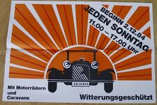 GERMAN FAIR POSTER 1984 - OLDTIMER CAR RV RETAILER BIKES FAIR