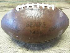 Vintage 1960s Sears 2446 Official Conference Leather Football   Antique 8057