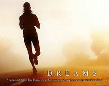 Running Motivational Poster Art Print Jogging Boston New York Marathon  MVP312