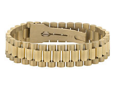 Mens 18K Yellow Gold Solid Link Designer 9 Inch Presidential Bracelet (16 MM)