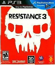 Resistance 3 (Sony Playstation 3, PS3, 2011, Insomniac Games) New Factory Sealed