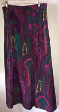 Size 12 Beautiful Boho Floral Purple Paisley Skirt Set W Vest