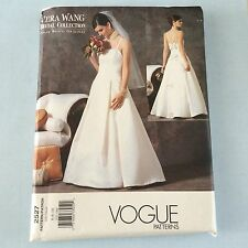 Vogue Vera Wang Wedding Gown Dress Pattern 2527 Uncut Sz 6-10 Bridal Collection