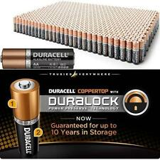 BIG LOT    100 Duracell MN1500 AA 1.5V Alkaline Coppertop Long Lasting Batteries