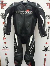 Spidi Supersport One Piece Race Leathers with hump uk 38 euro 48