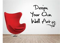 Personalised Vinyl Wall Art - Design Your Own Quote - Mural Decal Sticker decor