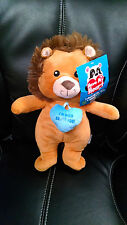 "Lion Plush Toy Have My Heart ""I'm Wild About You!"" Sugar Loaf Kellytoy NWT 2016"