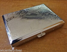 KSI Metal Floral Circle Design Strong Box 100s Size Cigarette Case