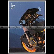 ★ BMW K1 K100 LT K75 S K75 1989 ★ Brochure Moto Catalogue PUB #BM312