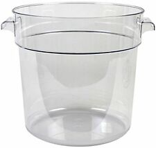 Thunder Group Polycarbonate Round Food Storage Container, 18-Quart, Clear