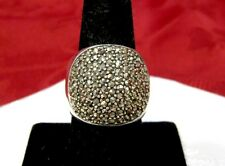 925 STERLING SILVER WIDE SPARKLING MARCASITE BAND RING SIZE 8