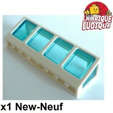 Lego - 1x window fenêtre 2x8x2 trans light blue 89649 + white/blanc 89648 NEUF