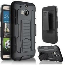Shockproof Armor Holster Hard Rugged Hybrid Stand Case Cover For HTC ONE M8