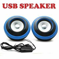 Portable USB Powered Computer Speakers Stereo Multimedia for Laptop Desktop New