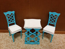 2010 Barbie Doll Malibu House Dreamhouse Replacement Table Chair Set Furniture