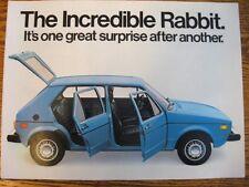 1978 VW Volkswagen Rabbit Brochure- MINT!