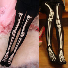 1x Neu Skelett Leggings Karneval Leggings Bones Knochen Leggins Gothic Halloween