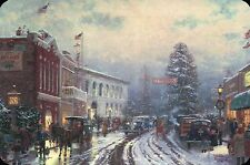 Christmas at the Courthouse -- Thomas Kinkade Card with Message --- Not Postcard