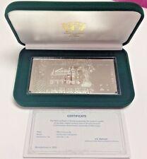 2005 Ukraine 20 Hryvnas Rectangular Silver Coin 4oz Ivan Franko Low Mintage Box