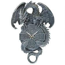 Celtic Cross Dragon Wall Clock Quartz Movement Timepiece