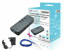 Addon ADDUHC700 7 Ports USB 3.0 Hub and iPhone 6 / 6Plus 5s 5c 5 4s 4 3G Charger