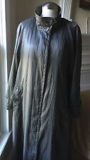 Towne from London Fog Pewter Trench Coat Women's Size 14 REG Removable Liner