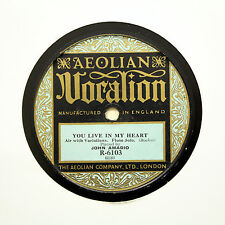 "JOHN AMADIO (Flute Solo) ""You Live In My Heart"" AEOLIAN VOCALION R-6103 [78 RPM]"