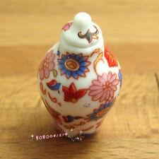 Dollhouse Miniature Decoration Porcelain Flower Pattern Jar Pot Vase SPO235