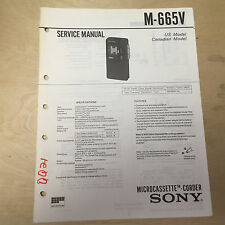 Sony Service Manual for the M-665V Microcassette Corder ~ Repair