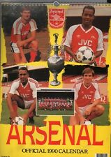 ARSENAL FOOTBALL CLUB 1990 CALENDAR OFFICIAL