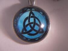 """Beautiful! WICCA -Triquetra - Pentagram - Pentacle - Pendant & 18"""" Necklace"""