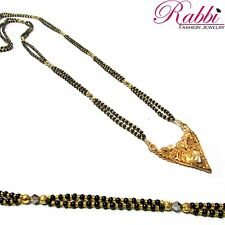 Rabbi Gold Plated Beaded  Jyoti Long  Mangalsutra/Wedding Jwellery Necklace