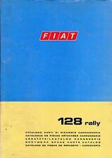 CATALOGO PARTI DI RICAMBIO FIAT 128 RALLY 3° Edizione XI/ 1973