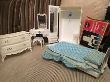 Sindy Doll Complete Bedroom Furniture *Vintage Pedigree*