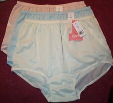 3 Pair Pastel ACETATE Panties Size 8 Brief Panty No Cotton in Crotch USA Made
