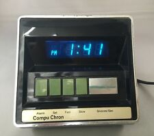 Vintage Compu Chron Alarm Clock / Digital Clock Model 5810