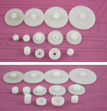 13Kinds Plastic Shaft Gears Spindle Single Crown Double Worm DIY For Robot beus