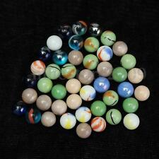 45 x Colorful Glass Marbles Children Toys Glass Ball Kids Traditional Games