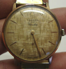 Vintage gents gold plated TRESSA 17 jewels ultra flat wristwatch