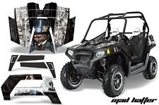 NEW AMR GRAPHICS KIT POLARIS RZR 800 800S 2007-10 BLACK MADHATTER Full Kit NEW