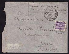 POSTA MILITARE 1941 Lettera da PM 201 a Mori (FM8) Tassata