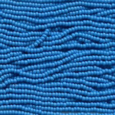 Opaque Dark Turquoise Blue Czech 11/0 Glass Seed Bead 1 (6 String Hank) Preciosa