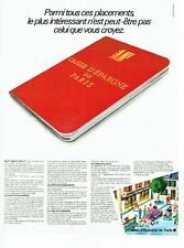 PUBLICITE ADVERTISING 0217  1978  le livret Caisse Epargne de Paris  banque